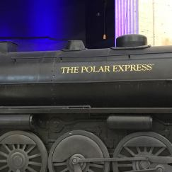 Credit: S.M. O'Connor Caption: This is a closeup of the THE POLAR EXPRESS steam locomotive mock-up in the Great Hall of Chicago's Union Station.