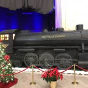 Credit: S.M. O'Connor Caption:  This is a POLAR EXPRESS display in the Great Hall of Union Station.