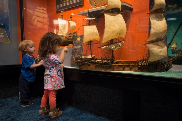 Ships Thru the Ages Exhibit at the Museum of Science and Industry, Chicago