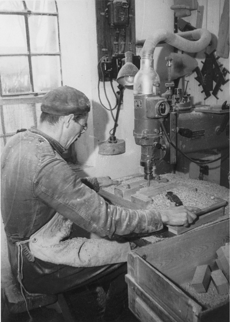woodworking factory 1930s